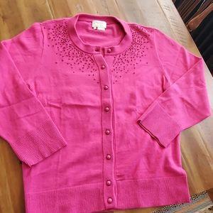 Beautiful Kate Spade vibrant pink beaded sweater